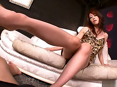 Incredible Japanese whore Maki Hojo in Exotic JAV uncensored Foot Job movie