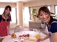 Čudovito Japonski kurbe Akiho Yoshizawa, Saki Kouzai v Vročih JAV cenzurirano Cumshots, Majhne Joške video