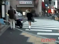 Street sharker stalking a gorgeous slim forced bi mature schoolgirl.