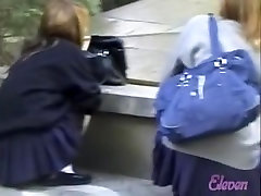 Fountain sharking action with two japanese futanari mom taboo creampie schoolgirl being in the middle of it