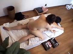 Japanese schoolgirl having sex in the massage room