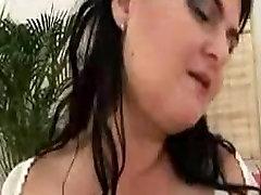 Brunette BBW mature slut masturbating and moaning