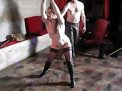 Mature slut in stockings enjoys BDSM in HD video