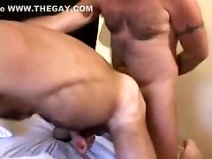 Hottest male in incredible bareback, bears gay adult clip