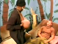 Busty dancehall skinout 3 MILF having fun with a younger black guy