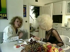 Vintage interracial anal sex with 1 busty blonde bitch