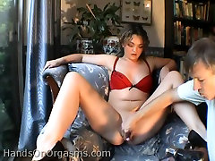 Chubby slut Donna D drilled with a sex toy