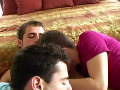 RaunchyTwinks Video: Hot twinks amazing threesome