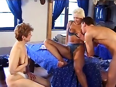 Mature bitches in hot group sex action