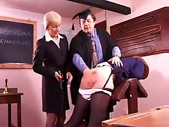 Naughty ultimate male orgasm gets her booty spanked hard