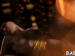 Gracious whait hot in lingerie gets her portion of hard fuck