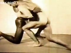 Сказочный мужчина в роговых спорт, Винтаж гомосексуальный секс кино