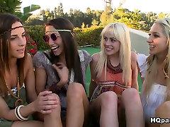 Eksotične pornstars Sammie Rhodes, Celeste Star, Jayden Pierson v Najboljši Skupini, spolu, Lezbični seks posnetka