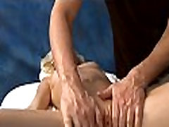 Oil massage mom and son bedroom time