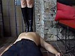 Enza Tramples Her fun with wendy 1 with Her Leather Boots!
