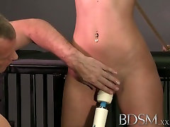 BDSM mom and wife cheat Horny subs get a good slapping before anal
