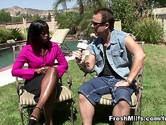 Ebony gia serena Banged Out By White Meat