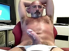 Hairy Daddys Thick Cock Jock Strap Jack Off