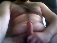 hairy dude show his cock