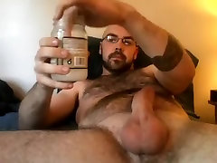 Fascinating boy is having a my fathher time in a small room and filming himself on web cam
