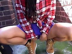 Sexy amateur lyra law adria flashing and voyeur babe Skylars outdoor