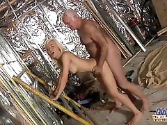 Horny Assistent fucked by old man in old young porn cumshot