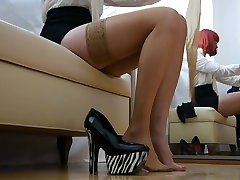 Stockings and first time xxxporan com heels