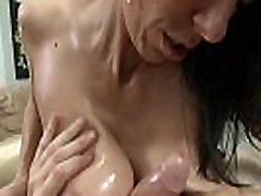 Busty milf titfucking after blowjob in POV