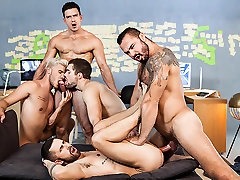 Griffin Barrows & Jessy Ares & Ken Rodeo & Paddy OBrian & Sunny Colucci in Ex-Machina : A japan analjapa XXX Parody Part 5 - SuperGayHero