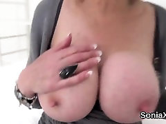 Cheating uk spank and cuddle gill ellis shows off her large boobs