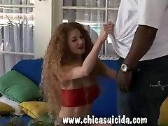 Horny charlee black MILF got her black meat dream satisfied