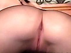 Glass fake penis insertion
