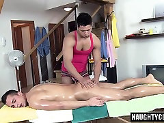 Hot daddy anal sex with massage