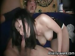 Cute brunette asian babe with great part5