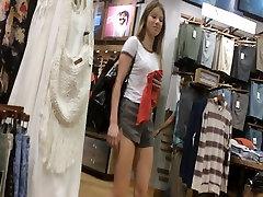 Ass Cheeks of a Shopping Teen