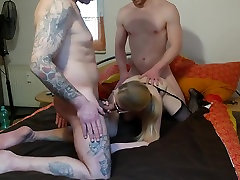 andon cun anal wife in threesome with husband