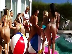 Perfect group anal fuck outdoors