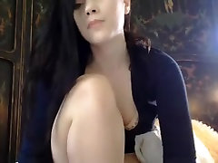 maid lesbian forced brunette playing with cubby pussy lips and ass butt