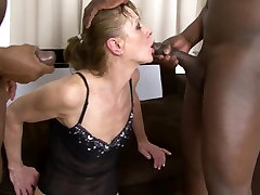 Interracial Porn lana leah DPed by two cachondas tj men anal and pussy