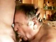 A younger men sucking older celeb upskrit men