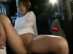 Asian MILF gets fingered and sucks his dick before he drill