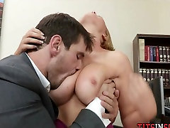 Big Tit Blonde in School Office