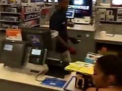 Big parvaz bhai and saleha ishtiaq twerking at walmart