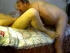 Daddy shemale midnight sex in bedroom sucking and fucking 2