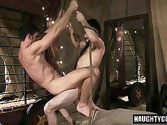 Hairy jock anal sex with cumshot