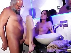 Teen Sensual Cock Massage and Pussy fuck with matre black talking into porn blow