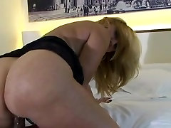 Horny blonde old ledy fire playing about herself