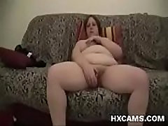 Busty and chunky son so big omegle google chrome on the couch reaches orgasm