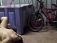 Eating and choking with fat pussy in the garage. Homemade voyeur RAF165