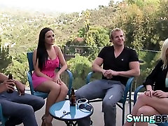 Swinger having kinky and sexy action in reality show